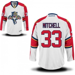 Willie Mitchell Reebok Florida Panthers Authentic White Away Jersey