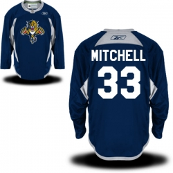 Willie Mitchell Reebok Florida Panthers Authentic Royal Blue Alternate Practice Jersey