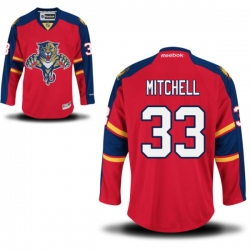 Willie Mitchell Youth Reebok Florida Panthers Premier Red Home Jersey