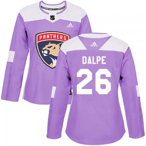 Zac Dalpe Women's Adidas Florida Panthers Authentic Purple Fights Cancer Practice Jersey