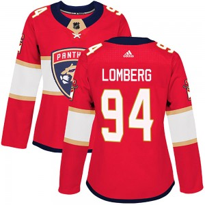 Ryan Lomberg Women's Adidas Florida Panthers Authentic Red Home Jersey