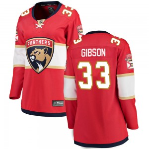 Christopher Gibson Women's Fanatics Branded Florida Panthers Breakaway Red Home Jersey